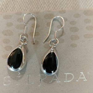 Silpada Black onyx tear drop earrings. Retired